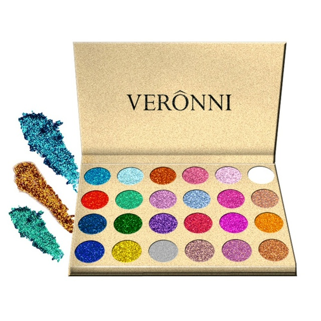 24 Colors Sexy Diamond Rainbow Cosmetic Eye shadow Magnet Palette Glitter Injections Pressed Glitters  Eyeshadow