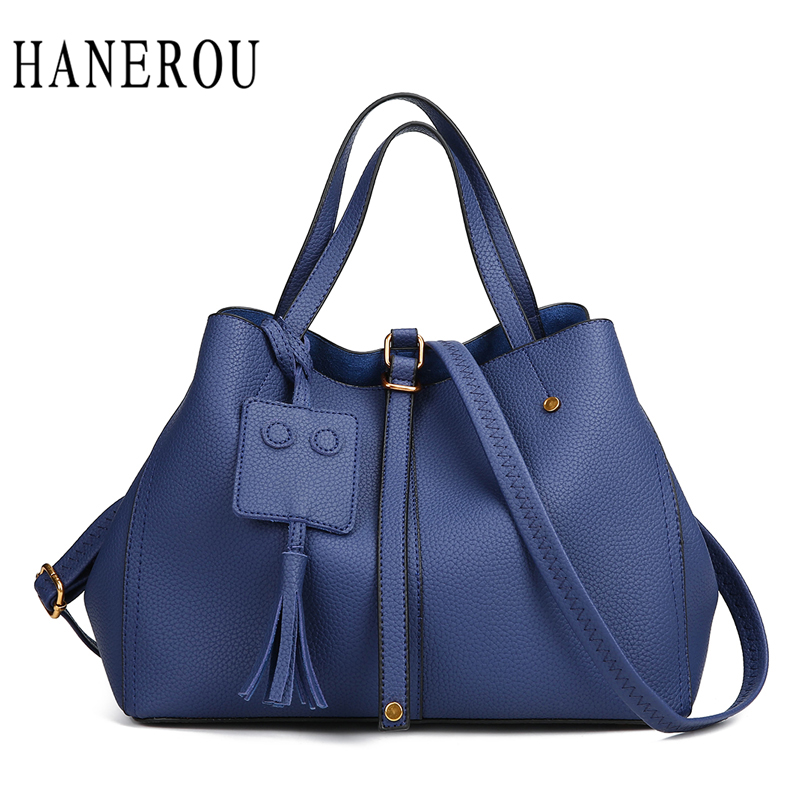 Fashion Women Handbags Big Tassel Ladies Hand Bags Handbags Women Famous Brands Solid Crossbody Bags For Women Tote Bag New Sac fashion patchwork trapeze bags handbags women famous brands women crossbody bag smile face ladies hand bags new big capacity sac