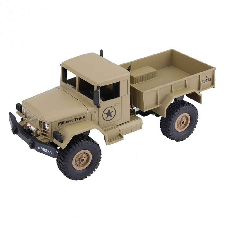 1 16 2 4GHz 4CH RC Military Climbing Truck Remote Control Vehicle Toy with USB Cable