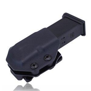 Image 2 - Innen Die Bund IWB Kydex Magazin Träger Mag Holster Benutzerdefinierte Für Glock 19 23 26 27 32 Verdeckte Trage 9mm Gun Pistole Pouch