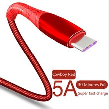 5A Flash USB Type C charging Cable For Huawei P30 Honor Xiaomi 9 Samsung S10 30 Mins Full Super Fast Charging for Android