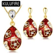 KULUFIRE Vintage jewelry sets colar masculino pendientes con piedras bijoux enfant conjunto joyas para novias joyas africanos