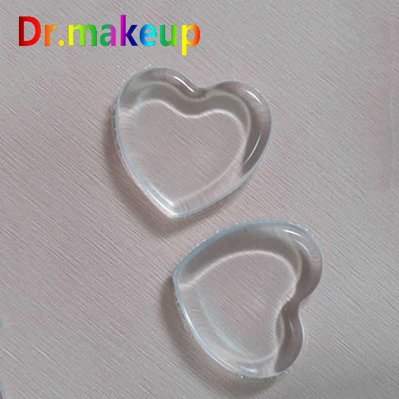 Silicone Sponge Makeup Puff Heart Shape Transparent Gel Beauty Egg BB Cream Powder Puff Face Foundation Make Up Tool Wholesale