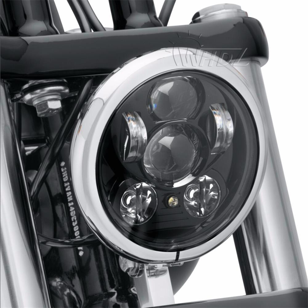 New 5.75 5-34 Inch Projector Round LED Headlight DRL for Harley Davidson Motorcycles (16)