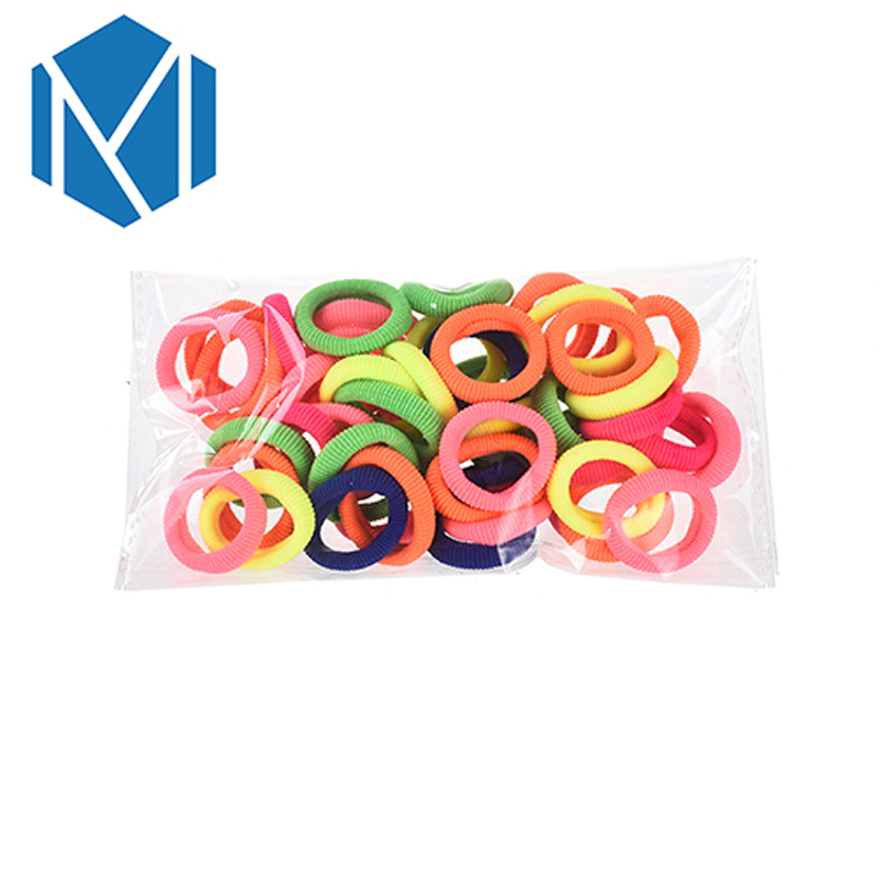 M MISM 50PCS Colorful Small Hair Elastic Bands Gum Rubber Band Bezel for Girls Kids Hair Accessories Scrunchy Hair Ties mism girl french hair bun maker multifunctional hair accessories for women fine roller curls styling holder curlers headbands