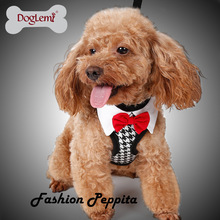 Fashion Bowknot Dog Harness Without Leash Gentleman Dog Harness Puppy Cat Collar Pets Chest Strap Party Pet Harnesses