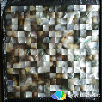 Black mother of pearl mosaic tile for house decoration 6 square feet/lot square pattern seamless wall tile 6pcs/lot