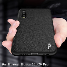 Funda de silicona para Huawei Honor 20 Pro, carcasa trasera de piel sintética, suave, completa