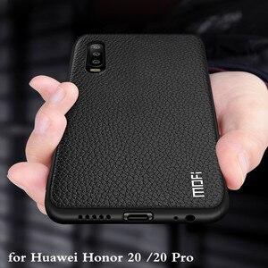 Image 1 - MOFi for Honor 20 화웨이 Honor 20pro 백 하우징 Honor20 Coque TPU PU 가죽 소프트 실리콘 풀