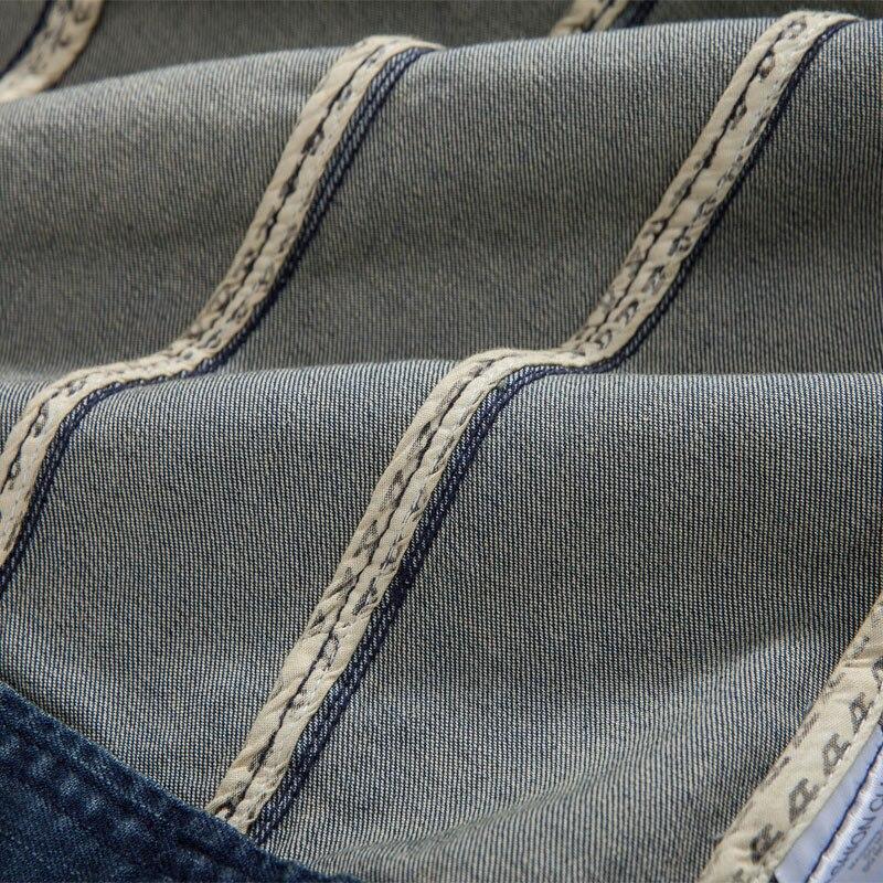 Осенняя джинсовая куртка с капюшоном, Мужская модная джинсовая куртка, Повседневная тонкая Ретро винтажная Хлопковая мужская брендовая одежда - 5