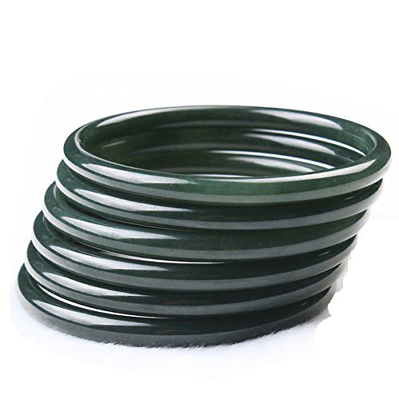Koraba Fine Jewelry Fine Natural Green Jade Round Fine Jade Bracelet Bangle Hand Catenary 59MM----62MM Free Shipping free shipping jade