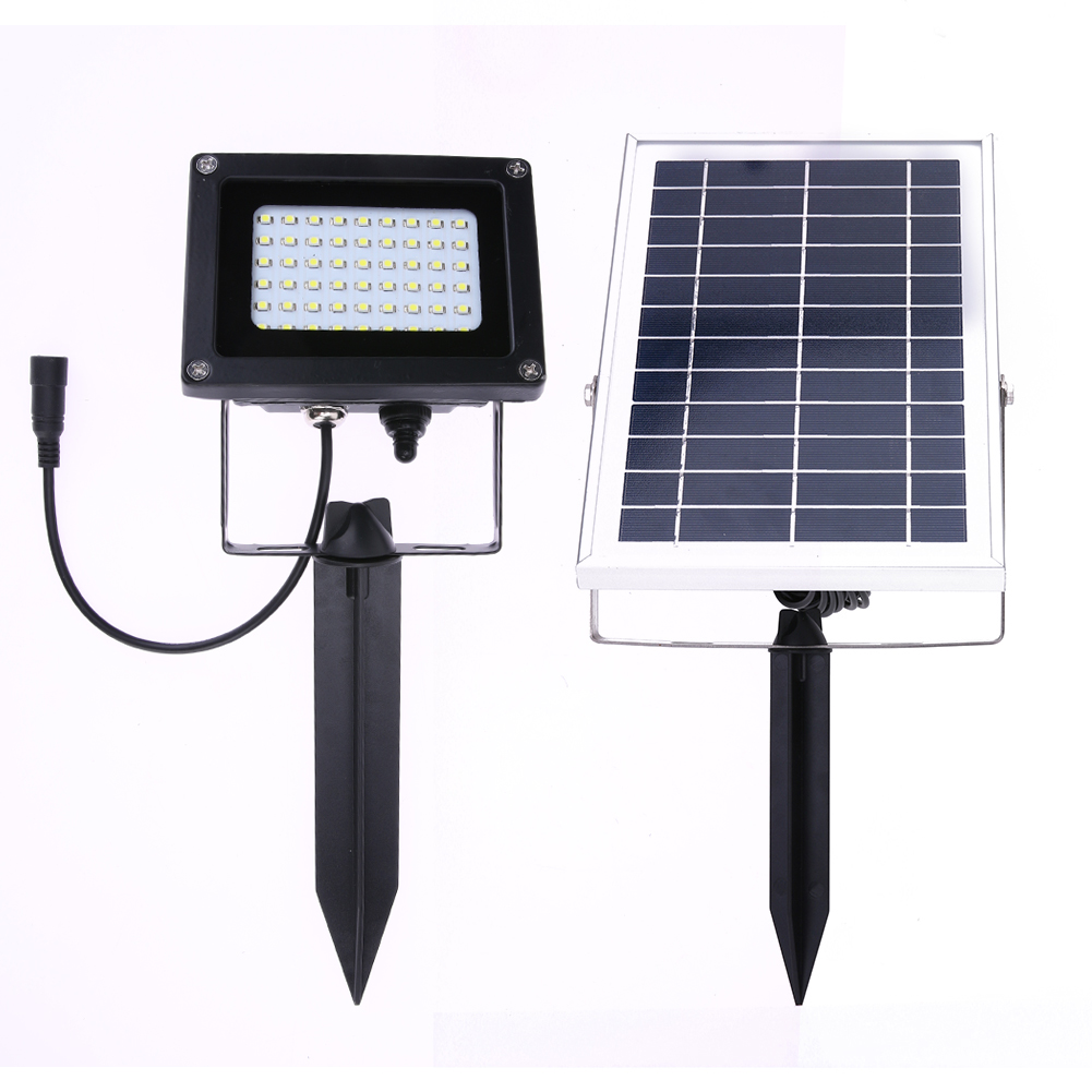 54 LED Solar Powered Panel Floodlight Night Sensor Led Street Light Outdoor Garden Lamp for Pathway Lawn Landscape Wall Light free shipping crack ball solar lamp vintage garden lawn colorful led light solar charging panel lamps1004