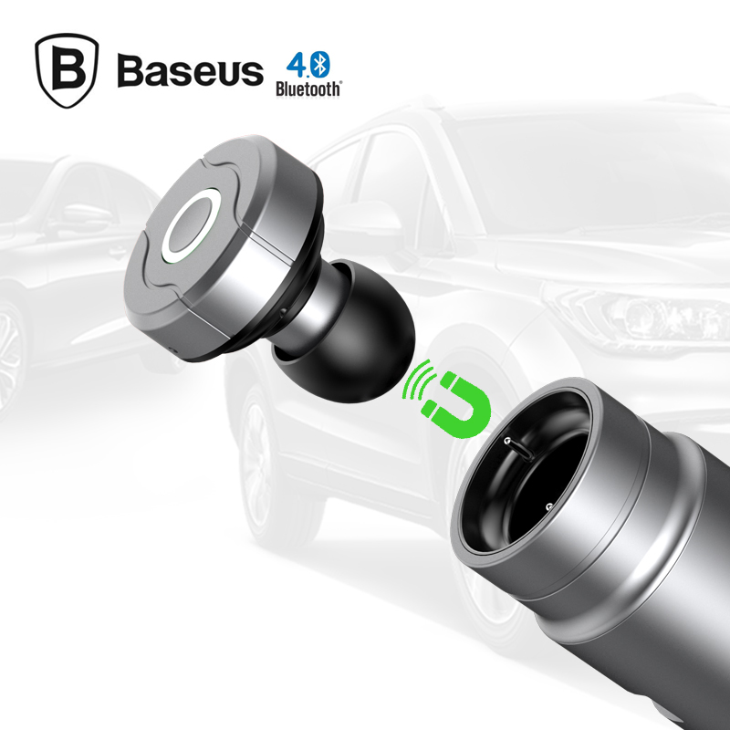 Wireless Portable Baseus bluetooth headset car charger 2 in 1 headset bluetooth and 2.4a fast car phone charger mini car charger usb interface wireless bluetooth earphone headset 2 in 1 fast car phone charger cx88