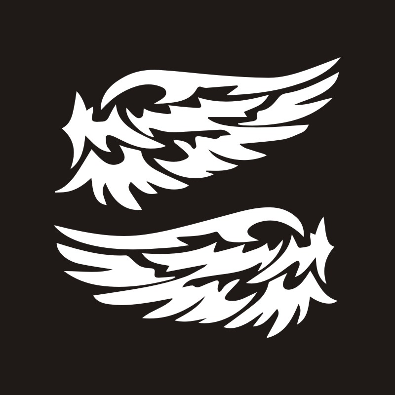 Автомобильные наклейки s 14 см* 7 см, крылья ангела, прекрасные автомобильные мотоциклы, украшения, 3D Светоотражающие Водонепроницаемые, купить 2, сохранить половину, стикер на заказ - Название цвета: White
