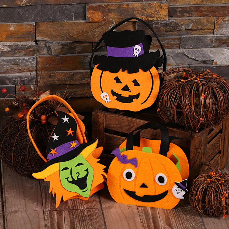 aliexpresscom buy halloween candy bag pull flannel pumpkin bag diy cute decorations children kids halloween props tote candy bag from reliable bag diy