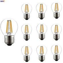 IWHD Bombilla Decoration Vintage Retro Lamp Bulbs 4W G45 Filament LED Edison Lamp Light Bulb Ampoule Gloeilamp E14 E27