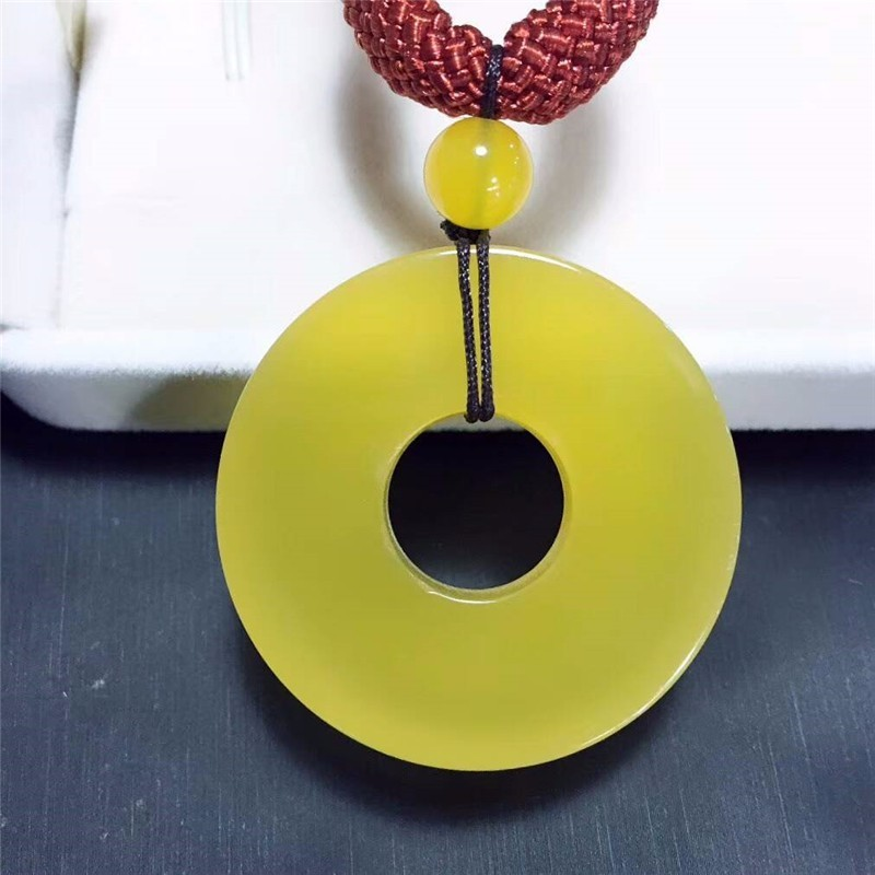 Koraba Fine Jewelry Natural yellow Chalcedony Pendant Necklace Noble Gifts Free ShippingKoraba Fine Jewelry Natural yellow Chalcedony Pendant Necklace Noble Gifts Free Shipping