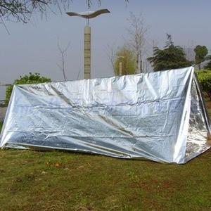 Portable Waterproof Emergency Blanket Windproof Survival Rescue Thermal Mylar Blankets Outdoor Life-saving Equipmet
