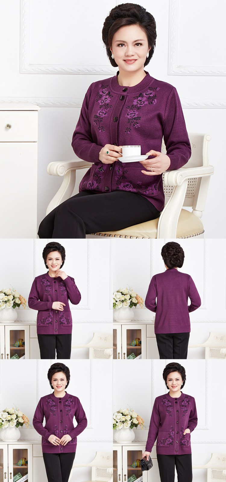 Winter Warm Wool Sweater For Women Pullover Female Printing Flower Knitted Ladies Embroidered Sweaters Pullovers bbbb