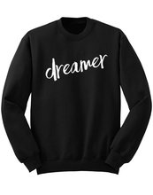 купить Dreamer Sweatshirt, 5SOS, 5 Seconds of Summer Sweater, One Direction Shirt, Band Shirt, Tumblr, Gifts for Girls-E042 по цене 780.92 рублей