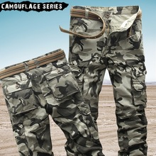 2018 men's cargo pants cotton high quality camouflage Jogger Straight trousers men military camo Male army Cargo pants Autumn 38