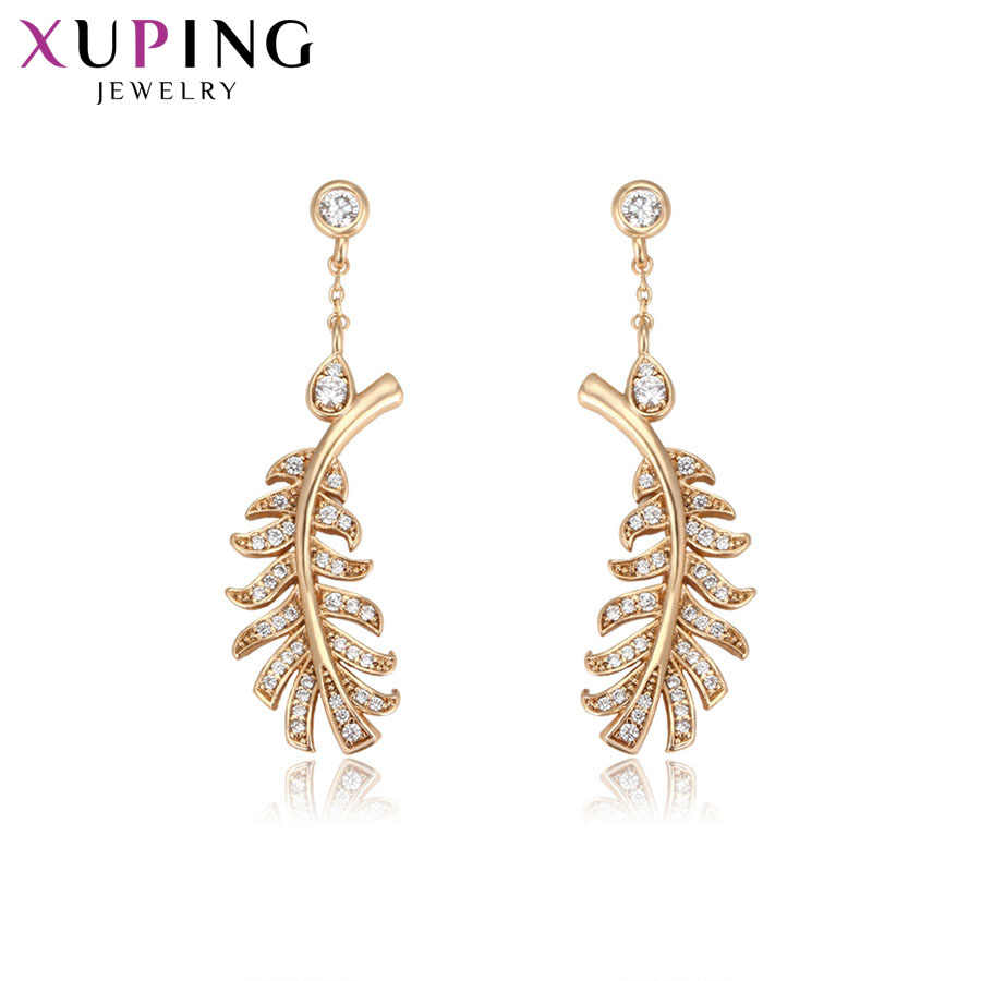 Xuping Fashion Elegant Earrings Charm Style Gold Color Plated Eardrops for Women Thanksgiving Gifts S13.2-94752