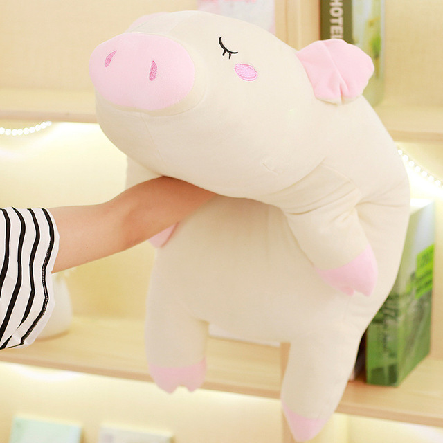 110cm Stuffed Animals Kawaii Pig Dolls Soft Pig Plush Toy Pig Doll Sleeping Pillow Lying Pig Toys for Girls Juguetes Brinquedo