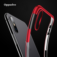 Luxury Plating Case For iPhone X 10 Electroplating Ultra Slim Soft TPU Silicone Cover For iPhoneX Bac Cover Case Shell Capinhas все цены