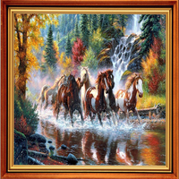 Diamond Painting Horse Running The Horse Diamond Mosaic Sale Pictures Of Crystals Bead Embroidery Pictures With