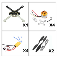 F450 450 Quadcopter MultiCopter Frame kit with 2212 Motor+30A ESC+1045 props Propeller for Quadcopter F450 450mm Wheelbase