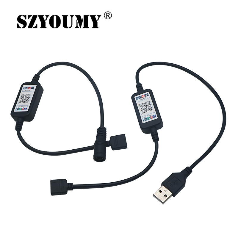 SZYOUMY Hot Mini Wireless RGB LED Strip Light Controller 5 24V Smart Phone Control USB Cable