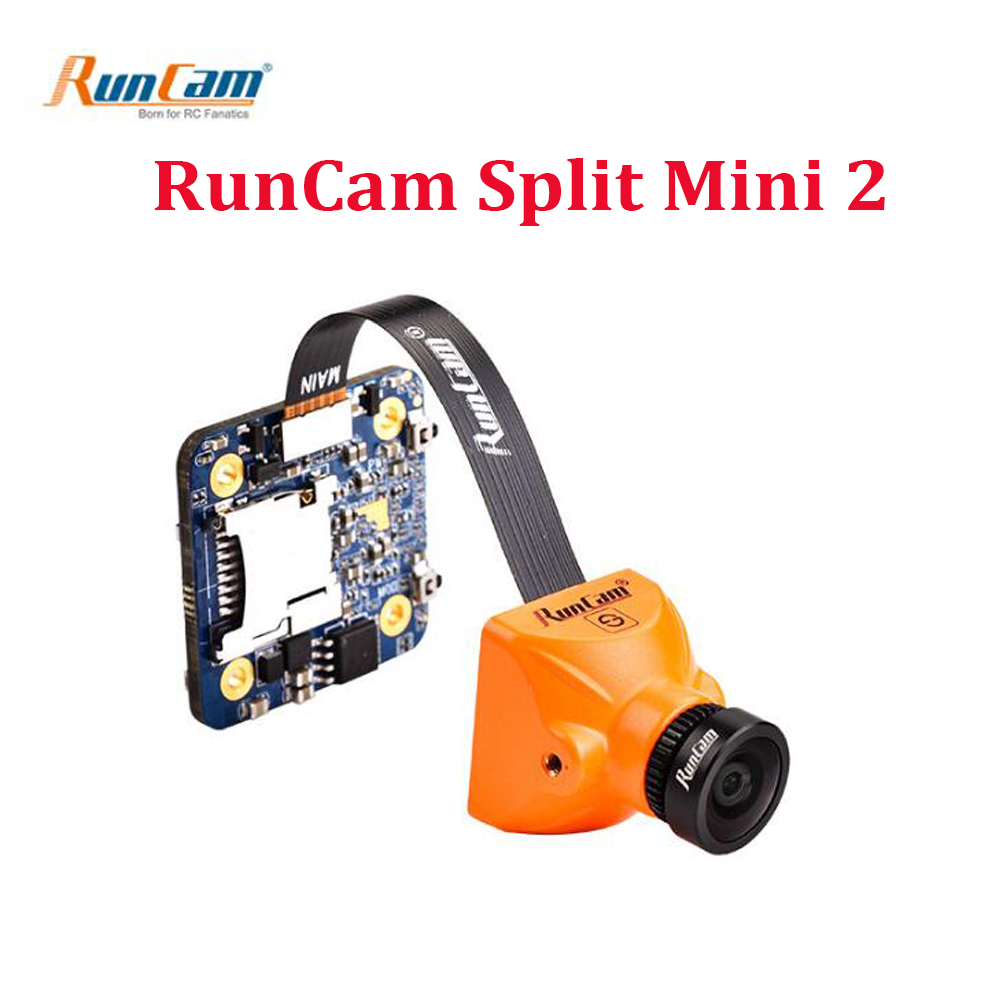 RunCam Split Mini 2 FPV WIFI Camera FOV 130 Degree 1080P/ 60fps HD Recording & WDR Mini NTSC/PAL Switchable For RC Models Toys 100% original new runcam 2 fpv hd camera av out fpv camera runcam2 1080p 120 angle wifi for walkera qav250 rc racing drone