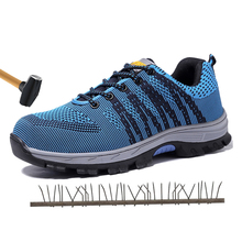 Summer breathable  anti-smash steel toe cap safety shoes work shoes protective shoes indestructible shoes