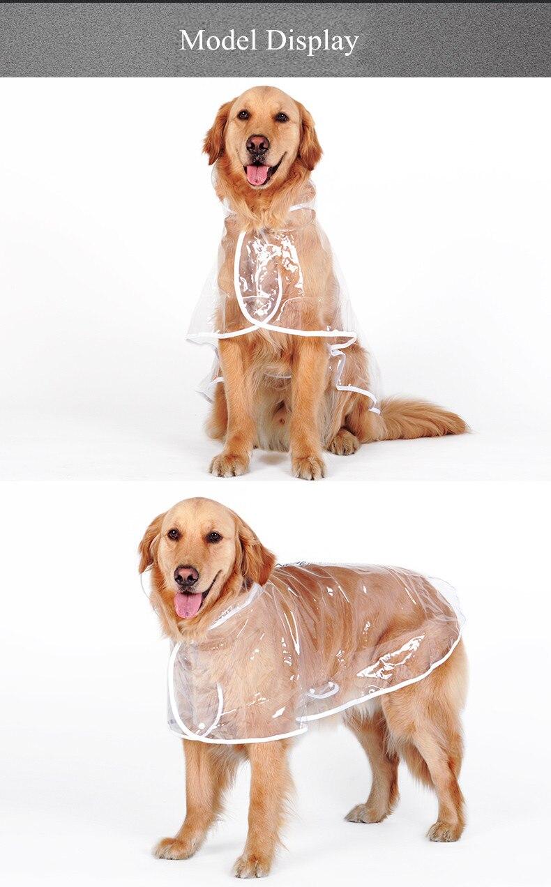 Waterproof Big Dog Rain Coat Cover EVA Raincoat Cloth Transparent Dog Rain Poncho for Large Dogs 3XL-7XL (9)