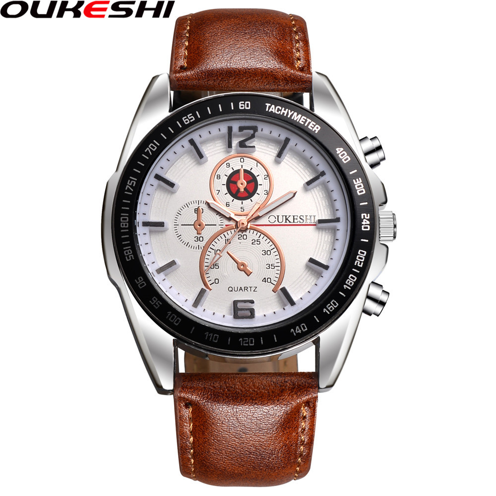 2018 oukeshi fashion quartz watch men watches top brand luxury male clock business mens wrist for Celebrity watch brand male