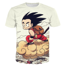 Cute Kid Goku Fly Prints tshirts Men Women Funny Anime t shirts Classic Dragon Ball Z Super Saiyan 3D t shirt Harajuku Tee NJ100