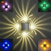 Kleurrijke Decoratie LED Wandlamp lamp 1 W/3 W AC85-265V Vierkante Lampen lights voor Room Hotel Loopbrug Armatuur veranda Slaapkamer Decor