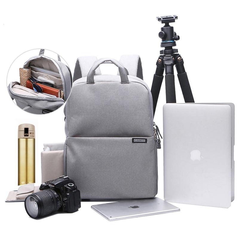 Waterproof  DSLR Camera Backpack Video Photo Digital Camera Soft Shoulders Bag Laptop 14 School Travel Bag For Nikon Canon Sony