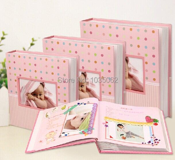roze blauw papier mooie jongen meisje baby fotoalbum boek kinderen kids groei flash geheugen. Black Bedroom Furniture Sets. Home Design Ideas