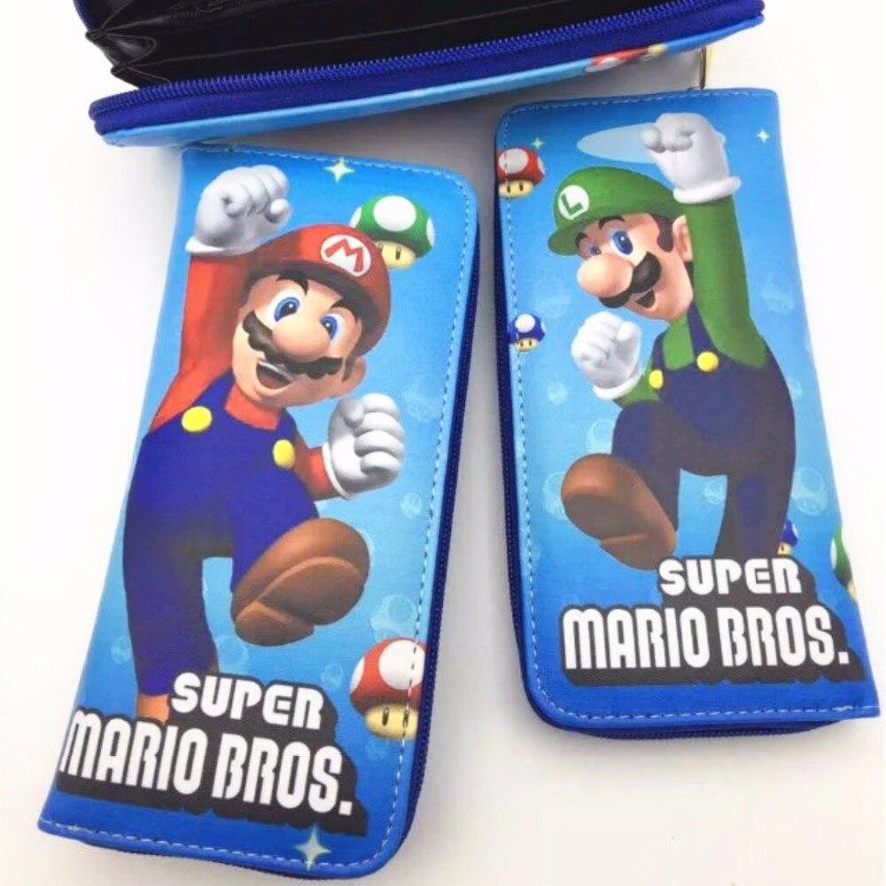 Новый Супер Братья Марио мультфильм длинный кошелек на молнии деньги монеты карты держатель мешка L041