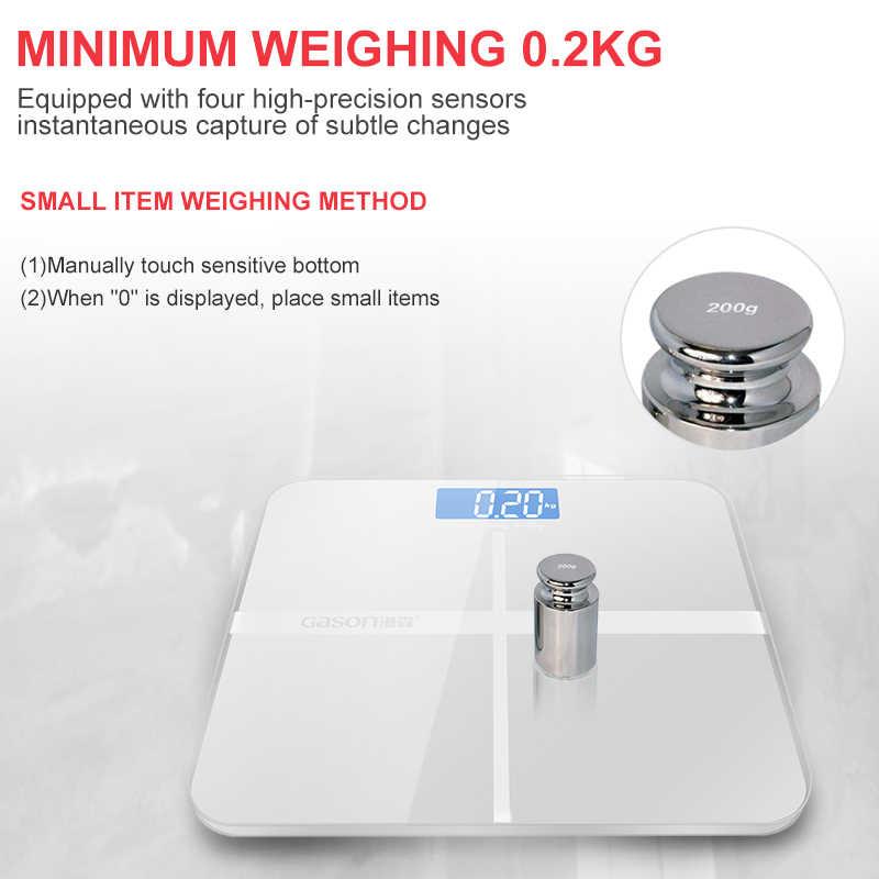 GASON A1 180 kg/50g étage balance de salle de bain pour le corps peser Smart ménage électronique numérique poids lourd affichage LCD précision