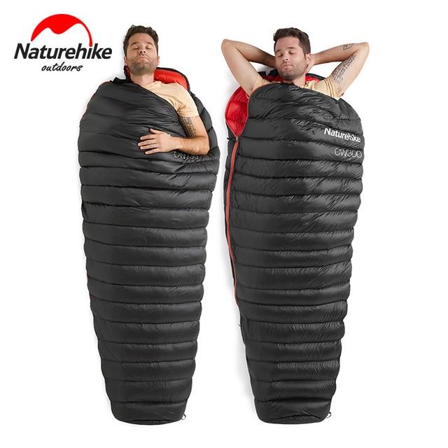 NatureHike NH Ultralight Adult Outdoor Camping White Goose Down Mummy Winter Sleeping Bag NH18S300-D
