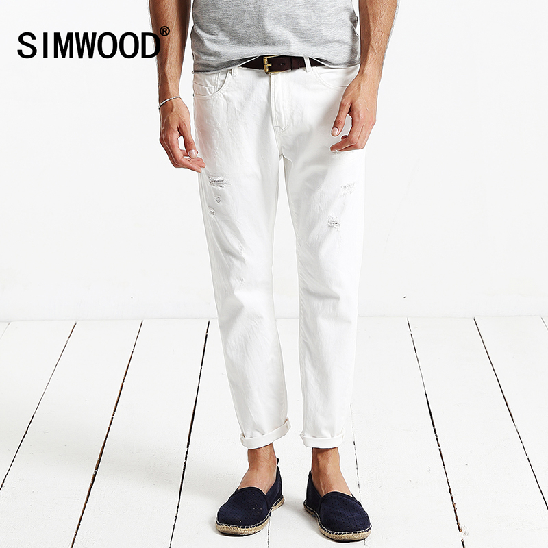 Simwood Jeans Men Fashion 2017 New Arrival Brand Slim Fit Straight Denim Casual Hole Trousers Men Pants Free Shipping SJ6036 велосипед stels navigator 310 lady 2013