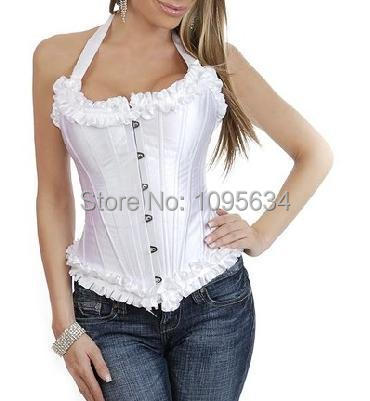 Free shipping  810 plus size halter steel boned corset
