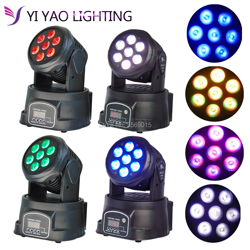 4pcs/lot 7x12W Moving Head Light RGBW 4 in 1 LED DMX512 Stage lighting for DJ KTV Disco Party Wedding Effect Lighting4pcs/lot 7x12W Moving Head Light RGBW 4 in 1 LED DMX512 Stage lighting for DJ KTV Disco Party Wedding Effect Lighting