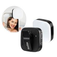 Nowe Godox Mini przenośne lampa błyskowa do selfie LEDM32 kamera 32 LED wideo wypełnić światło CRI95 z wbudowaną baterią litową do telefonu komórkowego