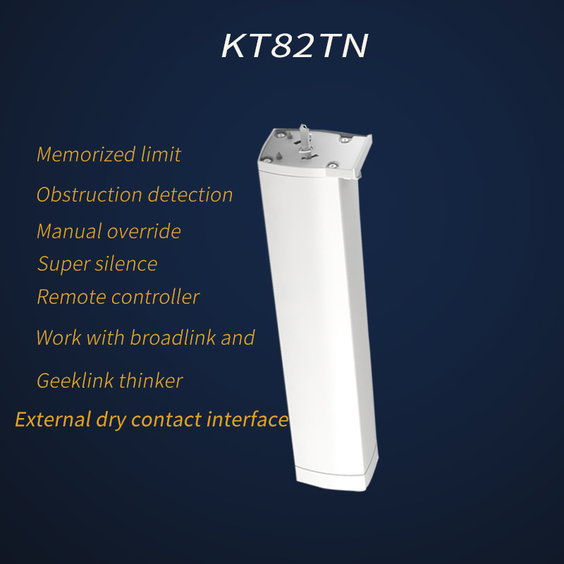Original Dooya KT82TN,DC Electric Curtain Motor, Built-in AC 100-240V transformer, Remote Control  for Smart Home automatic