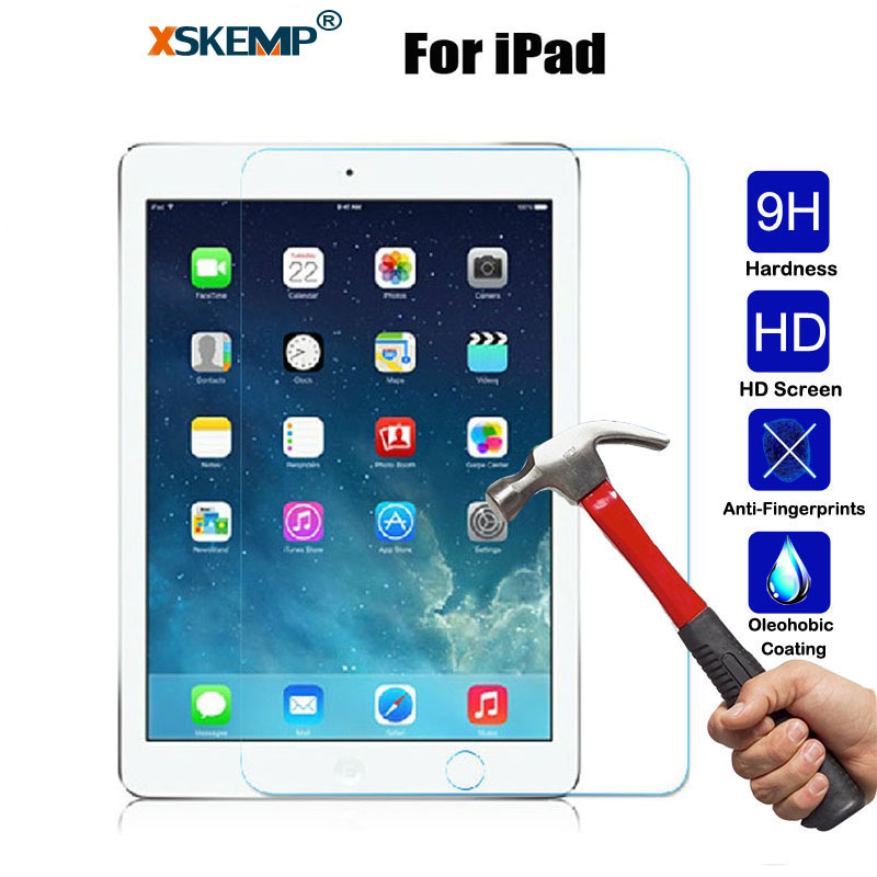 XSKEMP 9H Real Tempered Glass For Apple iPad Mini 2 3 4 Air Air2 Ultra Clear Tablet Screen Protector Film For iPad Pro 9.7 2017 apple ipad ipad 2 3 4 air2 min2i