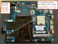 Working perfectly LA 5754P Rev 1.0 Rev 2.0 For Lenovo G565 Z565 Laptop motherboard ( with HDMI port )