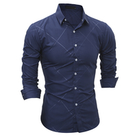 New 2017 Spring Autumn Cotton Dress Shirts High Quality Mens Casual Shirt Casual Men Plus Size